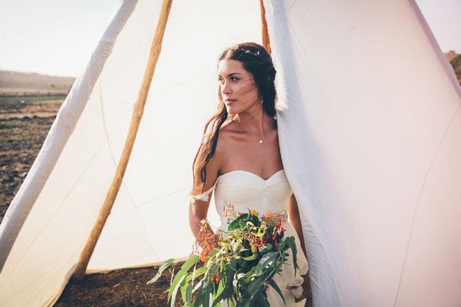 tipi and bride
