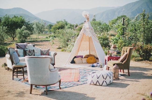 boho teepee lounge