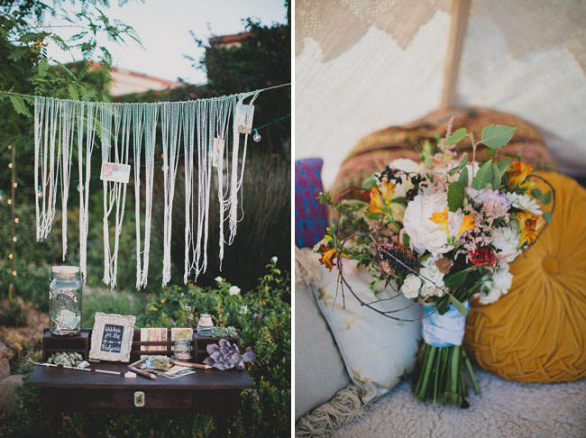 macrame guest book hanging