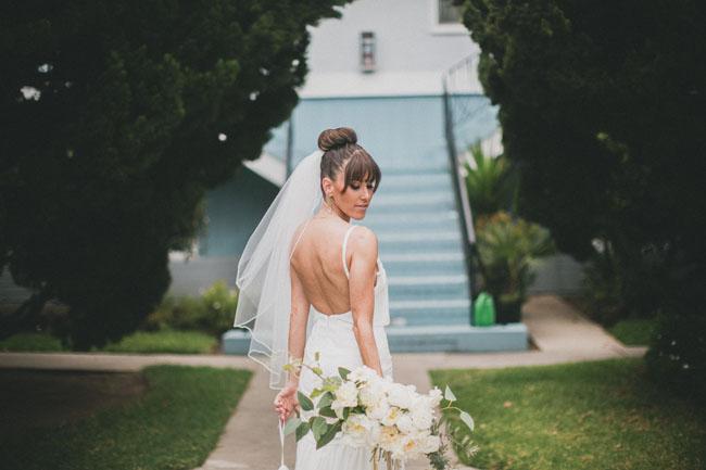 ballerina bun bride