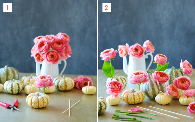 pumpkin and roses diy steps