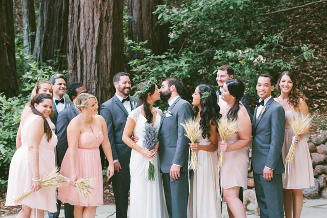 redwoods wedding party