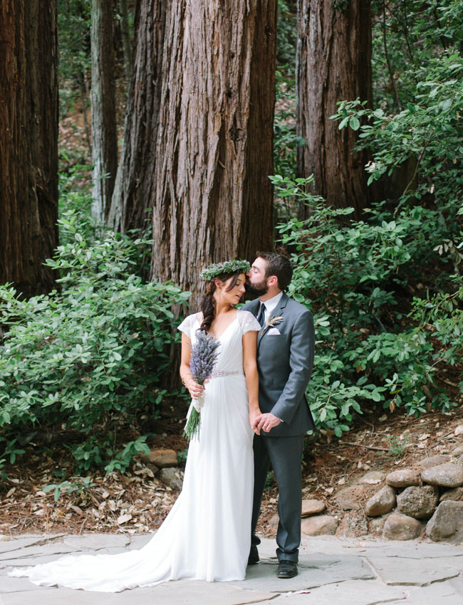 redwoods bride and groom