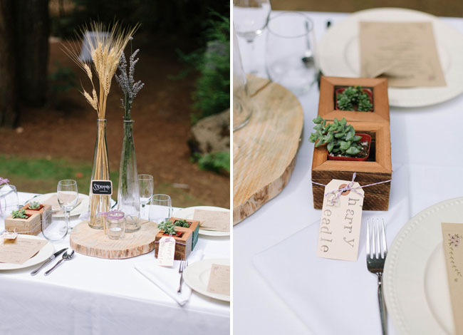 wheat table decor