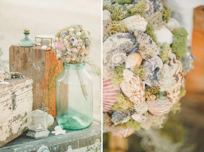 nautical shell bouquet