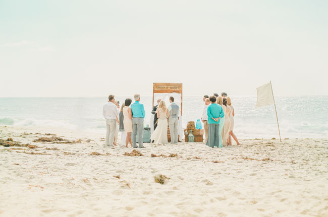 shipwrecked ceremony on the beach