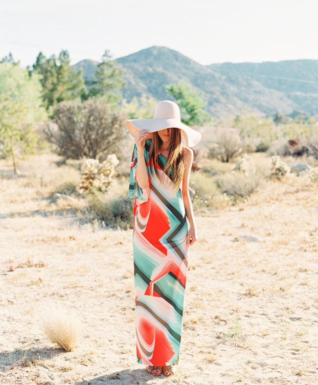 colorful maxi engagement dress