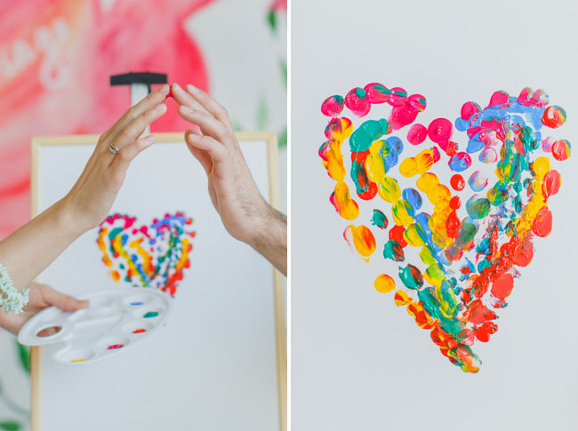 finger paint heart