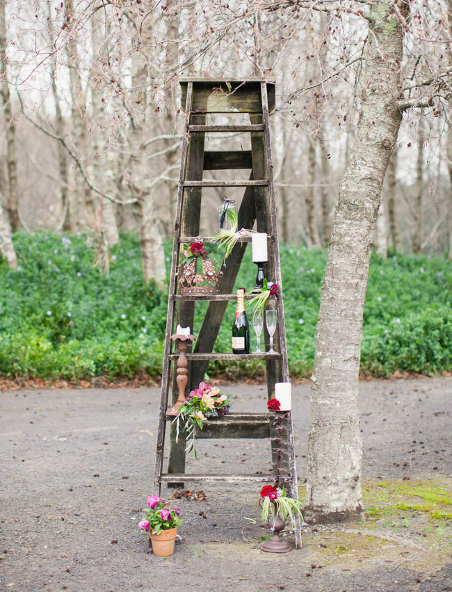 winter ladder decor