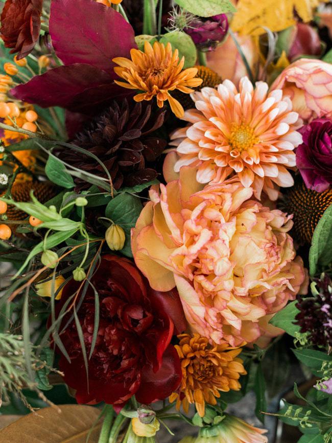 Halloween floral centerpieces