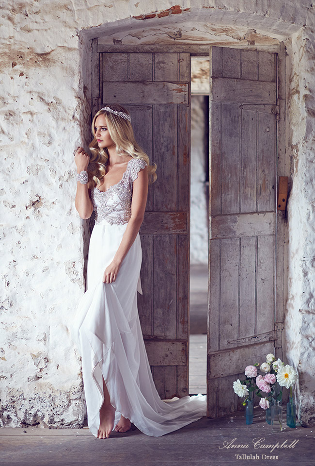 Beautiful Wedding Dresses from Anna Campbell | Green Wedding Shoes | Weddings, Fashion ...