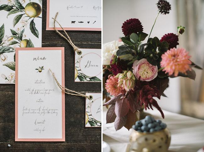 autumn romance invitation