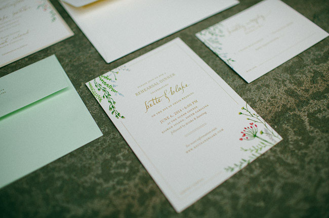floral accent invitation
