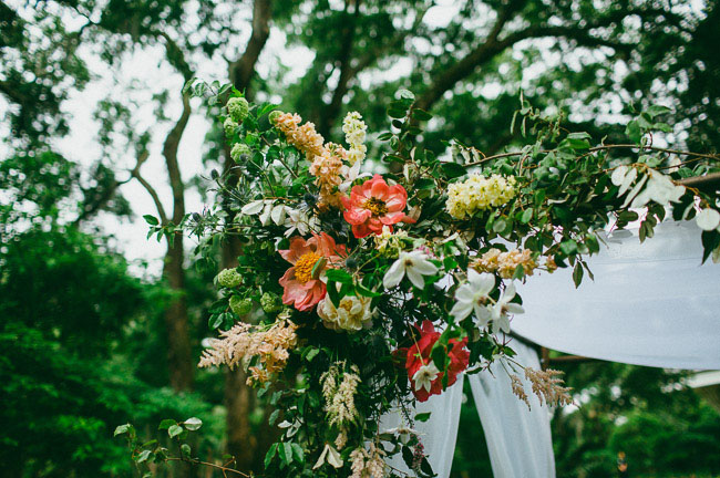 floral peony chuppah