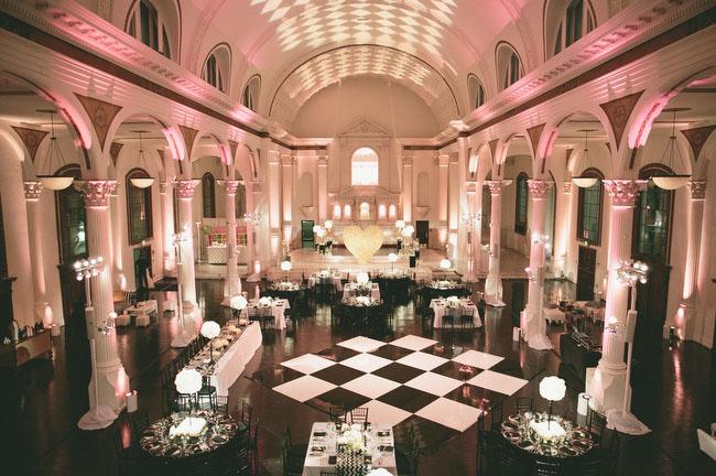 checkered dance floor