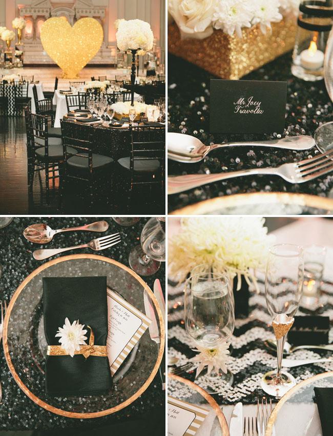 sequin chevron tablecloths