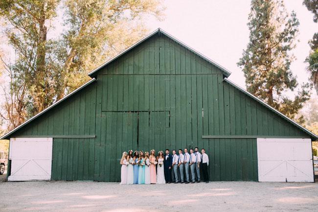 bohemian barn wedding