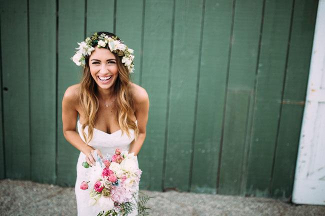 blushing protea flower crown