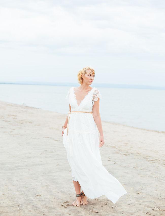 Beach Wedding Dresses Toronto : Beachy bohemian wedding inspiration green shoes