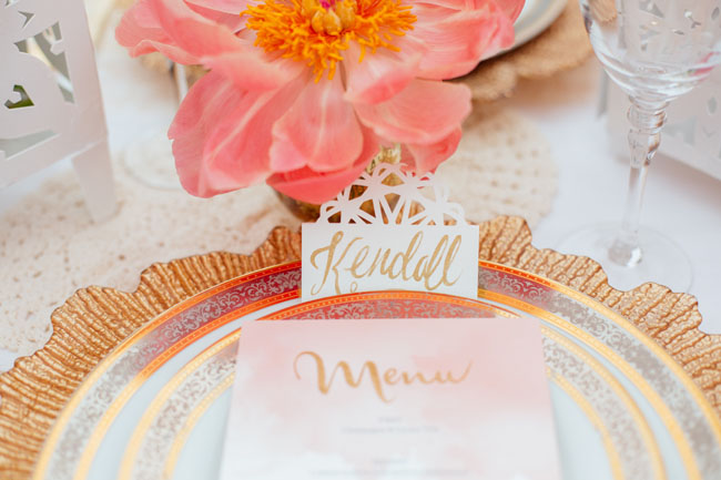 gold calligraphy name card