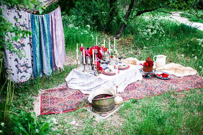 bohemian romance picnic