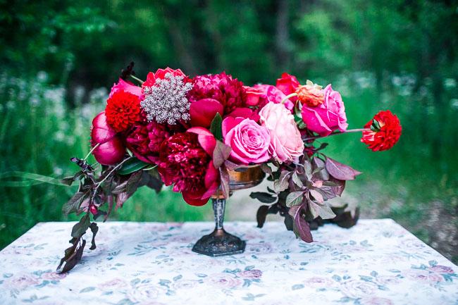 bohemian romantic florals