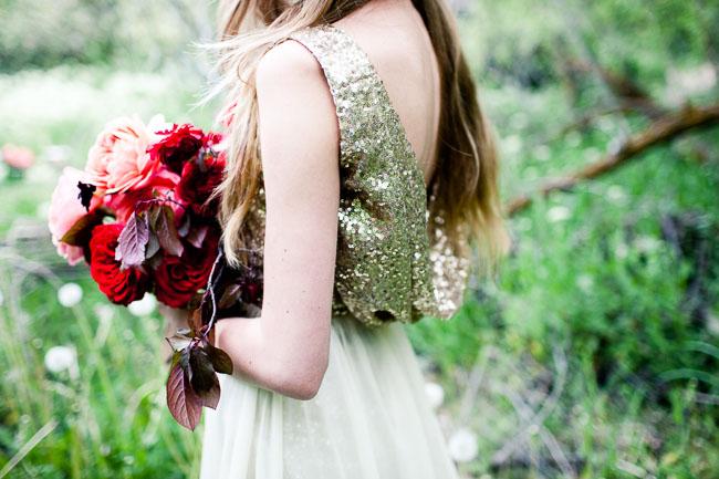 gold glitter top dress
