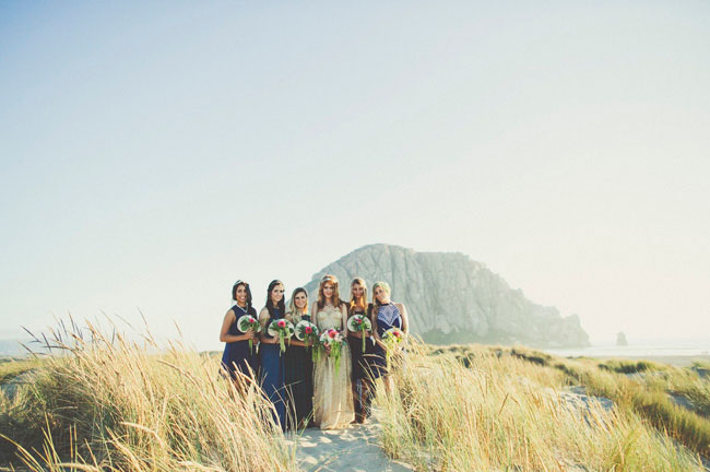 bridesmaids by the sea