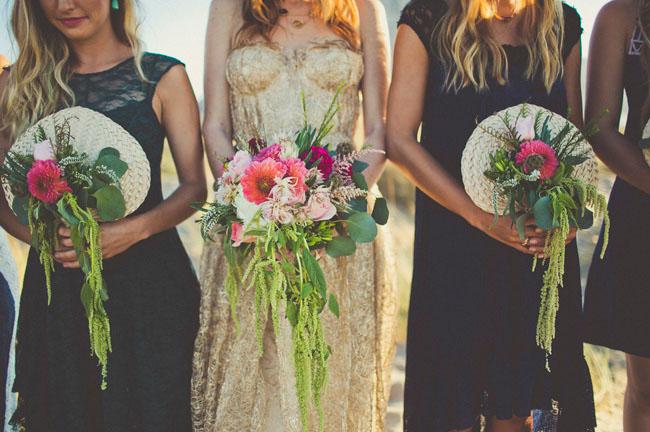 floral fan bouquets