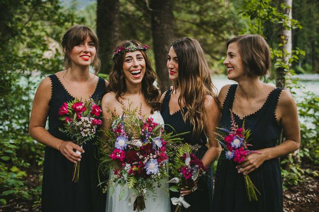 mountain bridesmaids