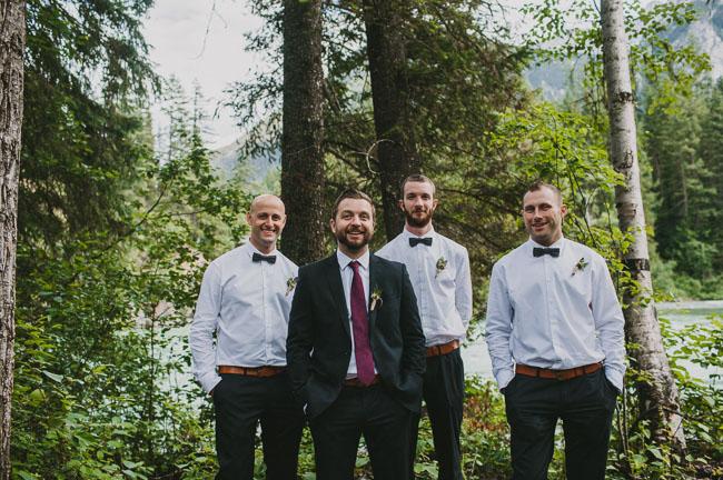 mountain groomsmen