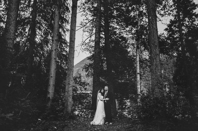 mountain river wedding