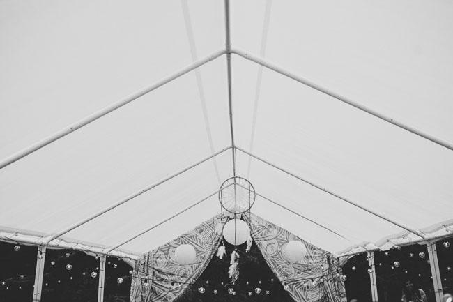 camp wedding reception