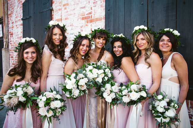 LA flower crown bridesmaids