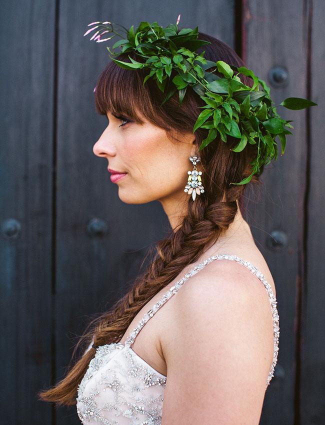 LA flower crown bride