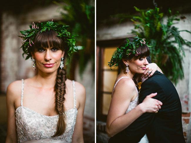 braided hair bride