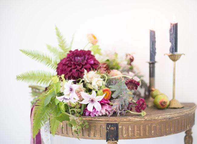 bohemian romance bouquet