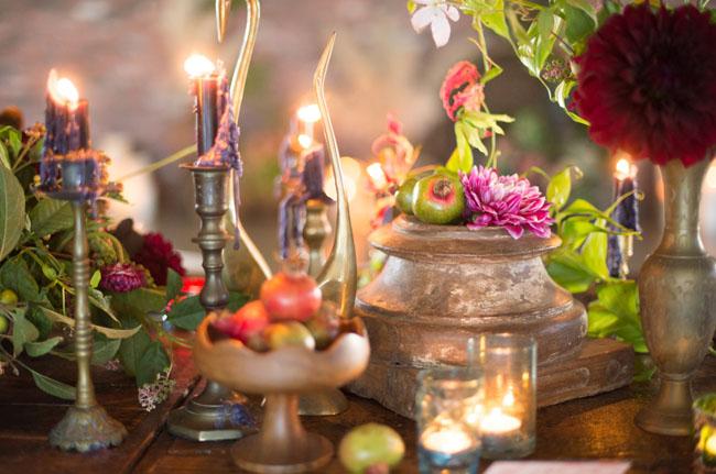 bohemian table decor