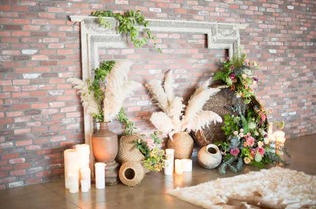 bohemian romance mantle decor