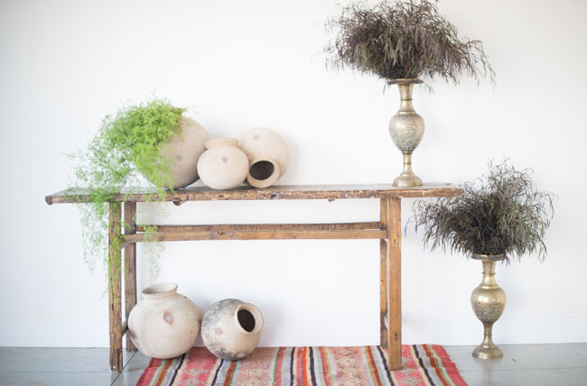 bohemian entry table