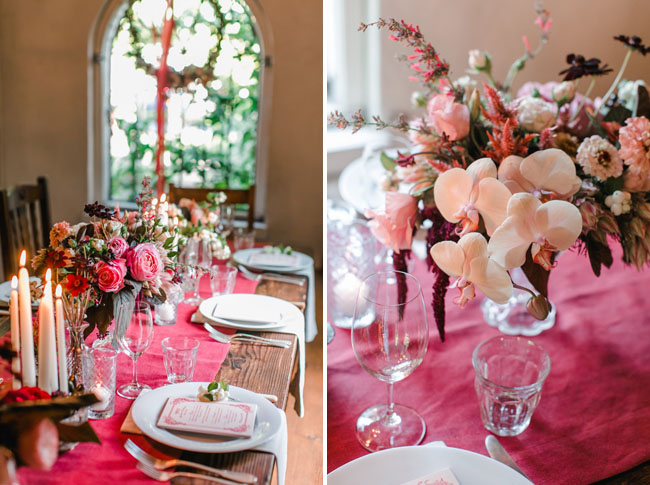 berry colored reception