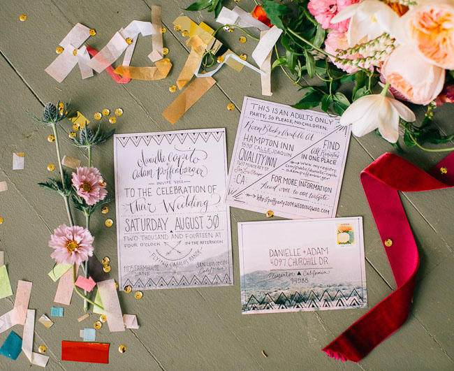 styled invitation