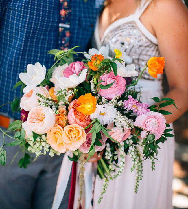 spring rustic ranunculus bouquet