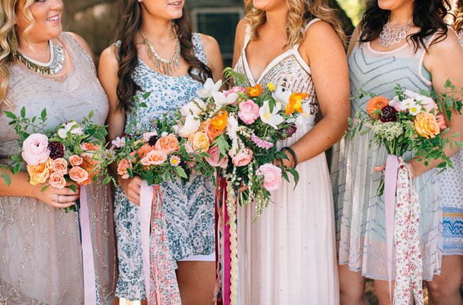 free people inspired bridesmaids