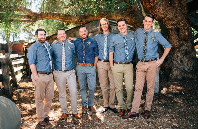 chambray groomsmen shirts
