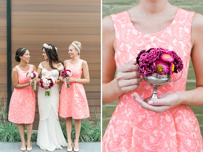 Fall preppy pink bridesmaids