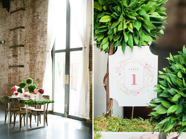 Fall preppy table number