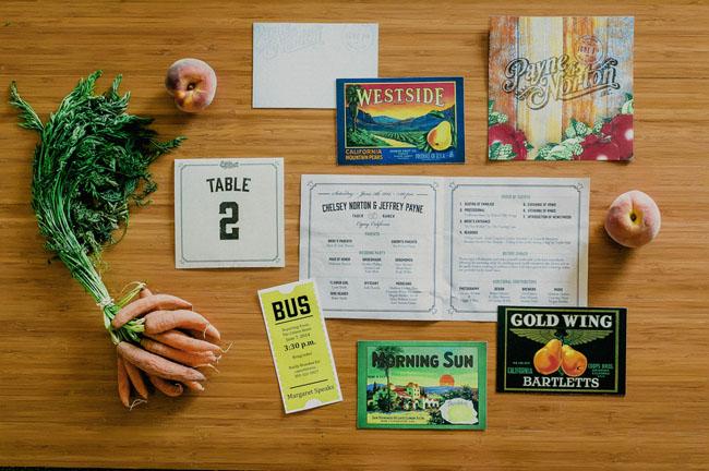farm to table inspired wedding invitation