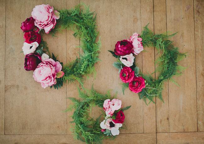 AFloral Silk Flower Wreath DIY
