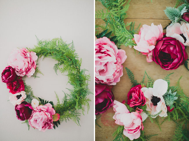 AFloral Silk Flower Wreath DIY